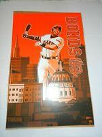 SF GIANTS BARRY BONDS ORANGE PHOTO POSTER SGA SAN FRANCISCO MLB