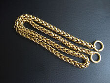 """1/4""""  Solid Brass Wheat Chain Key Wallet Chain Fob chain Crafts"""