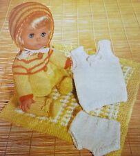 """Tejer patrón 12-14"""" Muñecas del bebé ropa pantalón Legging Chaleco Abrigo Sombrero C6062"""