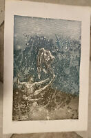 VINTAGE AQUATINT ETCHING SIGNED ARTIST PROOF TITLED DANCING ART BY REUEL
