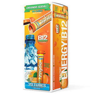 Zipfizz Energy Drink Mix, Orange Soda (20 ct)