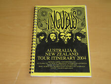 INCUBUS - 2004 AUSTRALIA & NEW ZEALAND TOUR ITINERARY            (PROMO)