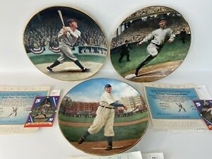 Porcelain Plates Baseball LOT,Delphi 22-K Gold cards,BABE RUTH ,TY COBB,CY YOUNG