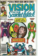 Vision and the Scarlet Witch #12 Newsstand 1st Twin Son Speed Wiccan 1986 FN C2