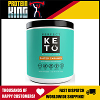 PERFECT KETO COLLAGEN 319G SALTED CARAMEL KETONE PROTEIN MCT POWDER KETOGENIC