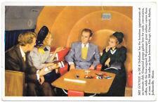 Postcard Sky Lounge in DC-6 Deltaliner Airplane~104255