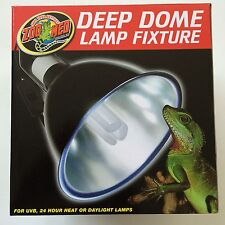 "Zoo Med Reptile Deep Dome Lamp Fixture Light 8.5"" (max bulb size 100 watts)"
