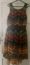 New Look Dress Size 10 Green Orange Autumn