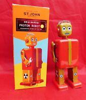 Jouet de l'Espace. PROTON ROBOT modèle rouge et doré. 15 cm. St. John. ETAT NEUF