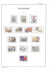 [OP5401] Denmark lot of very fine stamps on 12 pages