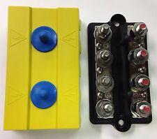 Dual 7 point junction block Positive Negative power post w/ cover Buss Bar 250A