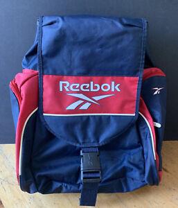 Vintage Reebok Backpack Bag - Blue & Red