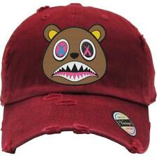 CRAZY BAWS Maroon Distressed Dad Hats - Match Sneakers