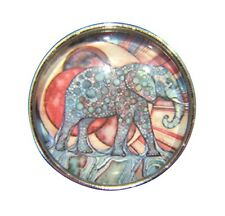 Noosa Style Chunks Snap Button Charms Ginger Snaps Charm Aqua Elephant 20mm