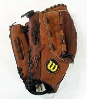 "Wilson A440 FastPitch 12 1/2"" Glove Left Hand Thrower ZSFP12 Brown Monsta Web"