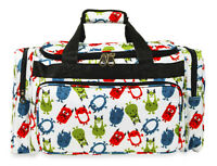 Jenzys Boys Monsters Large Designer Travel Gym Carry On Duffle Duffel Bag