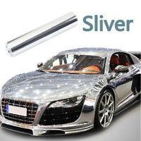 "12""x60"" Auto-Cars Folie Aufkleber Spiegel Chrom Silber Hochglanz Blasenfrei Neu"