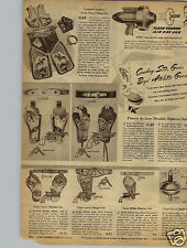 1948 PAPER AD Toy Flash Gordon Air Ray Gun Gene Autry Chap Set Holster Aluminum