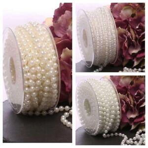 Elegant Pearl Beads on String~Trim~Chain 4mm/6mm/8mm~Round Ball Trim~PER METER