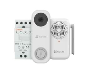 EZVIZ DB1C Wire-Free Video Doorbell with Chime 2MP AI Human Detection