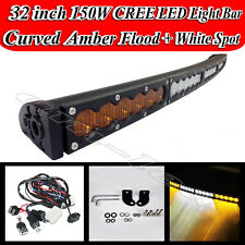 "32"" CREE LED Work Light Bar Spot Flood Combo Offroad for Jeep Boat Truck RZR 33"