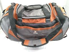 JEEP Authentic Sport Gear Travel Equipment Duffle Bag Black Grey Orange