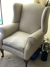 Laura Ashley Denbigh Wing Chair In Edwin Chenille Silver - QA1707190112