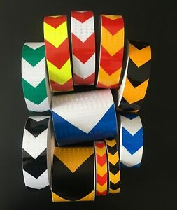 High Intensity Reflective Tape Arrow Safety Self adhesive Any Style UK SELLER