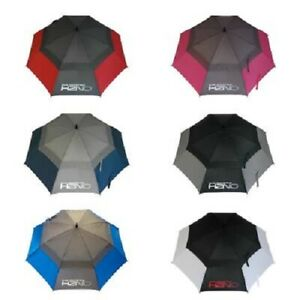 "Sun Mountain H2NO Double Canopy 62"" Umbrella - Black, Grey, Red, Blue. B/White"