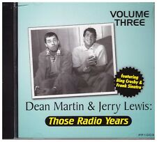 DEAN MARTIN & JERRY LEWIS - Those Radio Years - Volume Three - CD - BRAND NEW
