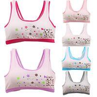 Smiley Print Lovely Underwear Bra Vest Underclothes Sport Undies Girls Children