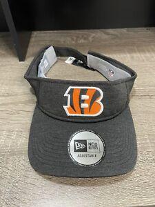 Cincinnati Bengals NEW ERA Unisex Adjustable Visor NFL Fan Gear Gray Hat OSFM
