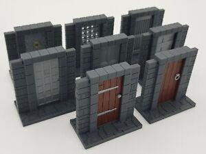 Descent: Journeys In The Dark - 3D Hinged Medieval Doors - Set of 8