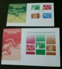 1982 Commonwealth Games M/S FDC x 2