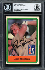 Jack Nicklaus Autographed Auto 1981 Donruss Rookie Card #13 Beckett 12058712