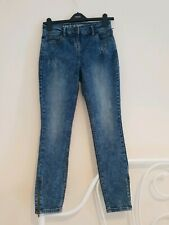 Womens Next Ankle Skinny Zip Jeans Size UK 8
