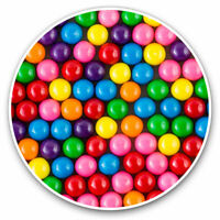 2 x Vinyl Stickers 7.5cm - Colorful Gumball Sweets ​ Cool Gift #14133