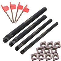 4 SCLCR06 7/8/10/12mm Lathe Boring Bar Tunring Tool Holder +10 Inserts CCMT0602