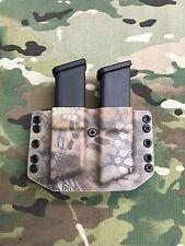 Kryptek Banshee Kydex Dual Magazine Carrier for Glock 9 .40 .357