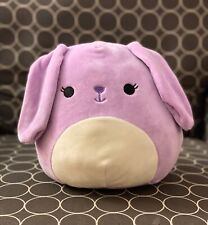 "NWT Squishmallow 8"" Purple Bunny Rabit Bubbles Easter 2020 plush kellytoy NEW"