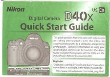 Nikon D40X Digital Camera Quick Start Instruction Manual
