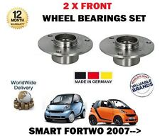 FOR SMART FORTWO 451 COUPE+ CABRIO 2007-->NEW 2 X FRONT WHEEL BEARINGS SET