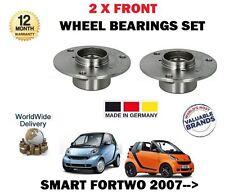 Para Smart Fortwo 451 Coupe + Cabrio 2007 -- > NUEVO 2 x Rodamientos De Rueda Delantera Conjunto