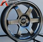 17X8 ROTA GRID WHEELS 4X114.3 HYPER BLACK RIMS ET35MM FITS 4 LUG CL 1996-2001