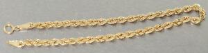 Armband Gold 585 Wallisarmband 19 cm Armkette Kordelkette 14 Kt.