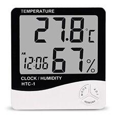 Digital LCD Humidity Meter Clock Thermometer Hygrometer Temperature Calendar New