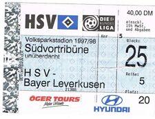Ticket - HSV v Bayer Leverkusen 1997/8