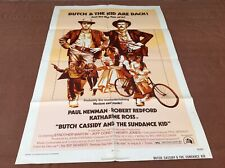 1974 Butch Cassidy & The Sundance Kid Original Movie House Full Sheet Poster