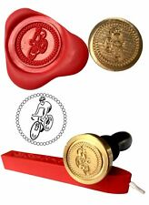 Wax Stamp, RACING CYCLIST Cycling Sport Design and Red Wax Stick XWSC253-KIT
