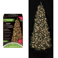 Premier 1000 LED Christmas TREE Brights Timer Lights Multi Action - Warm White